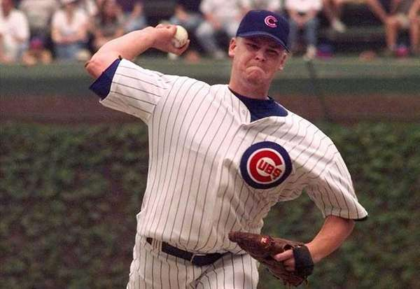 Chicago Cubs rookie Kerry Wood delivers a pitch