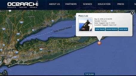 This screen shot shows where an OCEARCH locator