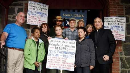 Supporters of farm workers' rights met at St.