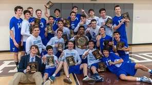 Kellenberg celebrates winning the CHSAA boys volleyball final