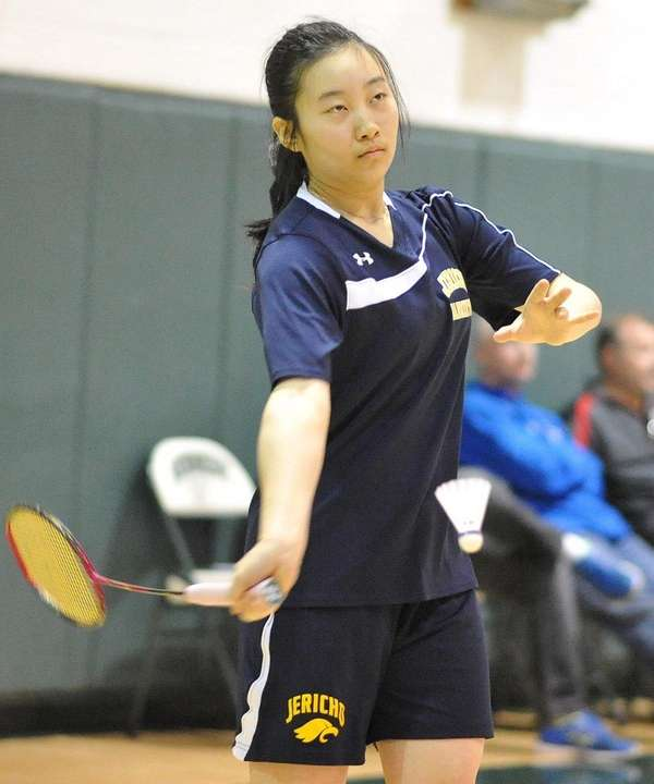 Jia Zhang of Jericho serves during the Nassau