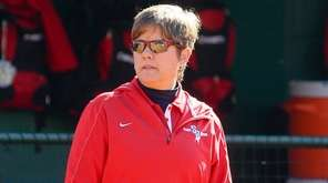 Stony Brook softball coach Megan Bryant collected her