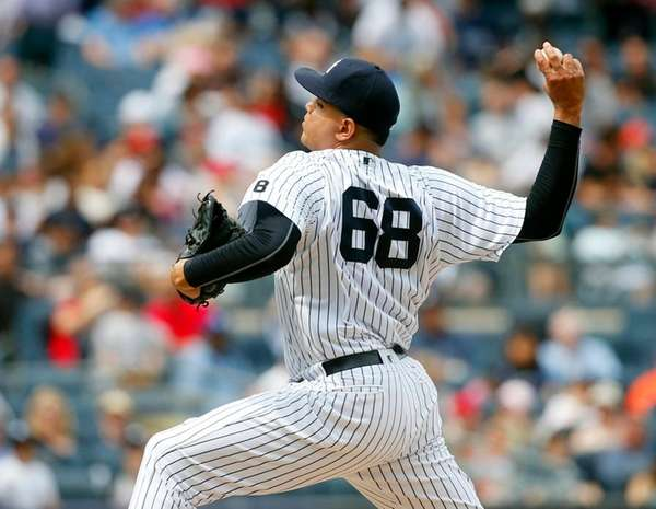 Dellin Betances of the New York Yankees pitches