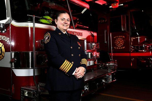 Chief Christine Manzi in full uniform at the