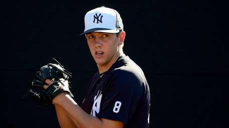 New York Yankees pitcher Chad Green throws a