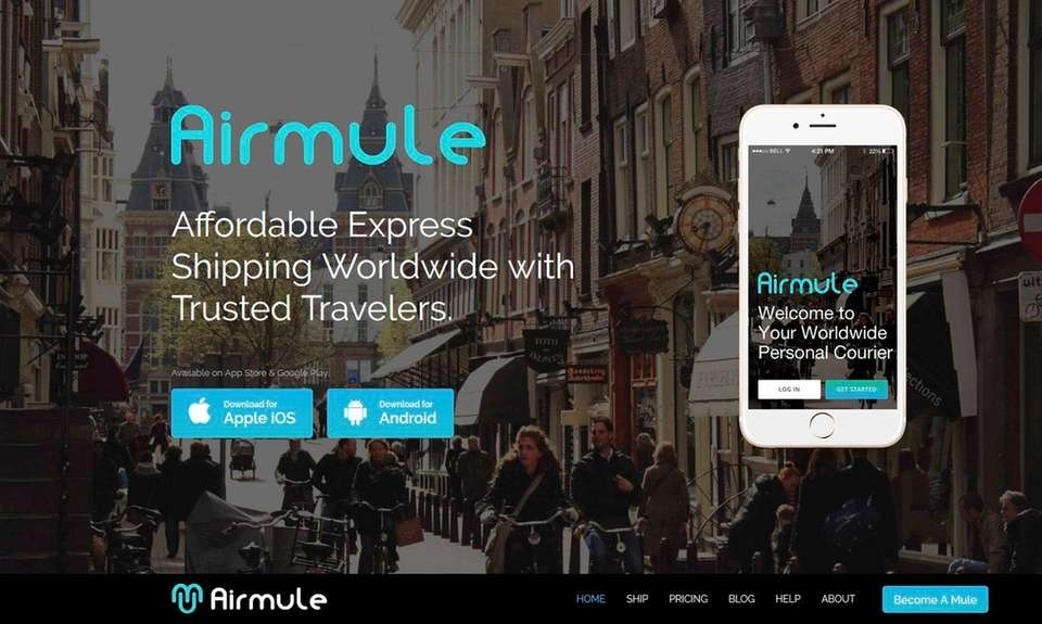 NAME Airmule express shipping service WHAT IT DOES