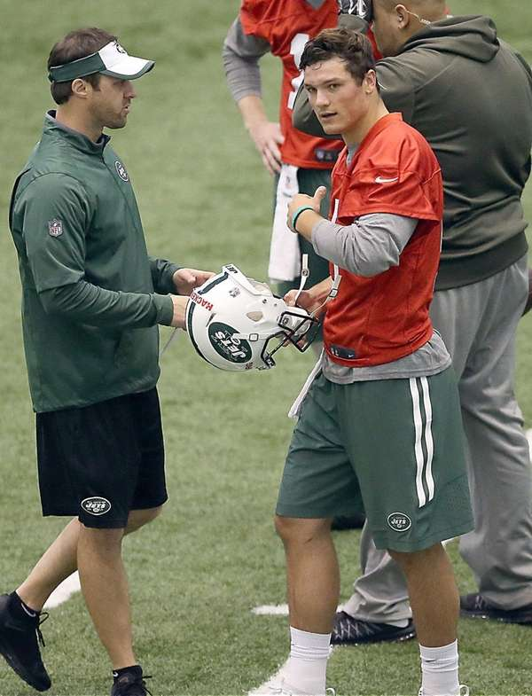 Jets draft pick Christian Hackenberg at the Jets
