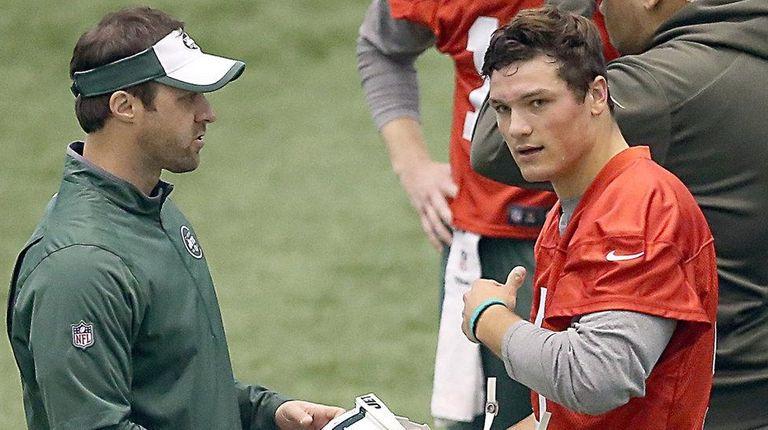 Jets draft pick Christian Hackenberg at the Jets