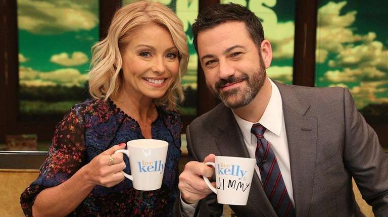 Kelly Ripa is joined by Jimmy Kimmel on
