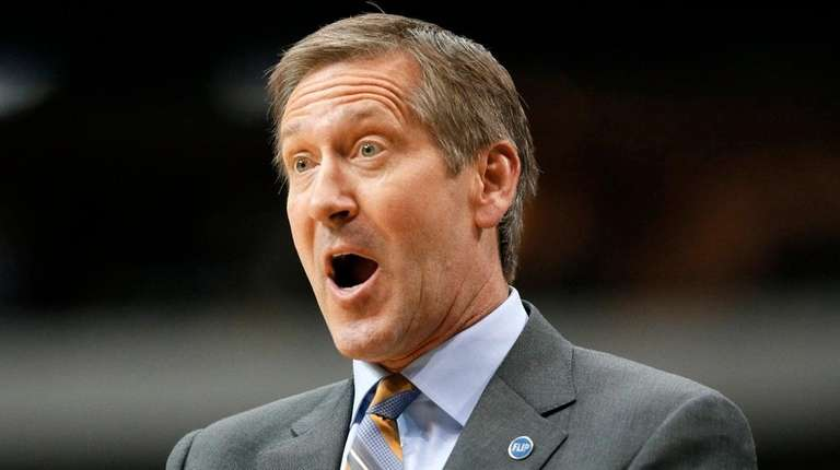 Then-Phoenix Suns head coach Jeff Hornacek gestures as
