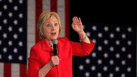 Democratic presidential candidate Hillary Clinton at a campaign