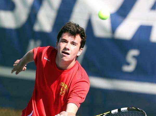 Chaminade's Colin Sacco gets to the short ball