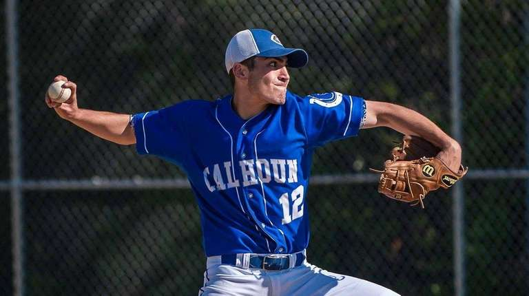 Calhoun boys baseball starting pitcher Rob Bachus (12),