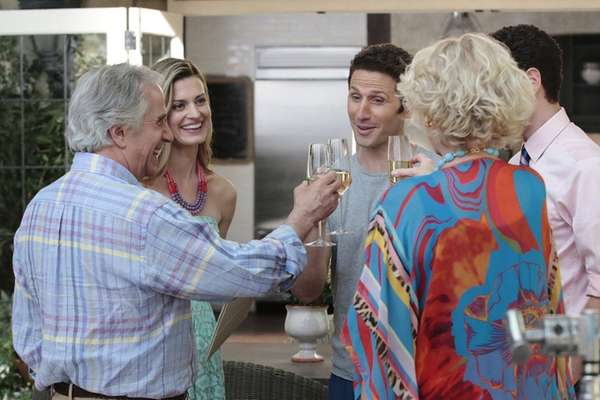 Henry Winkler, left, Brooke D'Orsay, Mark Feuerstein start