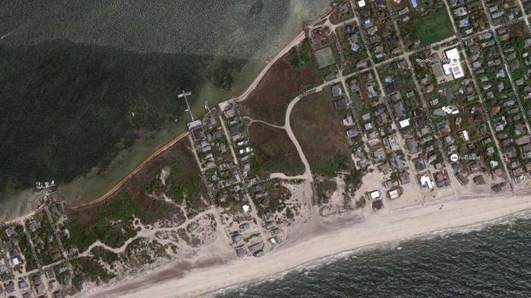 A dune-building project designed to strengthen Robbins Rest