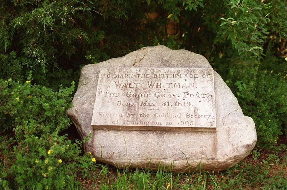 A marker for the birthplace of Walt Whitman