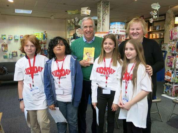 Authors Henry Winkler and Lin Oliver with Kidsday