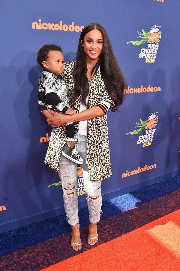 Ciara and son Future Zahir Wilburn attend an