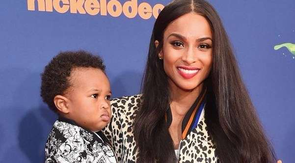 Ciara and son Future Zahir Wilburn attend an
