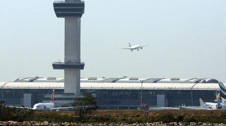 John F. Kennedy International Airport is seen in