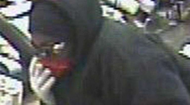 Nassau County police say this knife-wielding robber struck