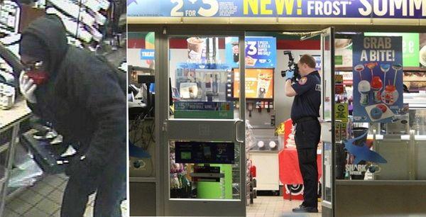 Nassau County police say a knife-wielding robber struck