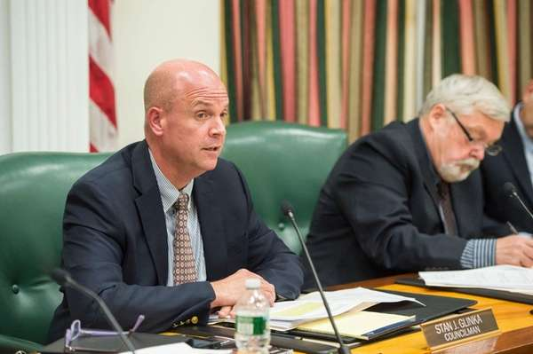 Southampton Town Councilman Stan Glinka speaks during a