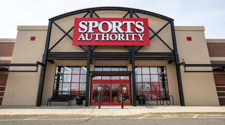 A Sports Authority store in Riverhead, shown on