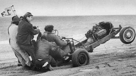 Tommy Wheeler and friends ride a homemade beach
