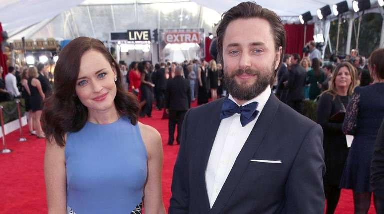 Alexis Bledel, left, and Vincent Kartheiser welcomed a