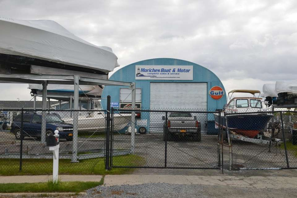 A view of Moriches Boat and Motor, a