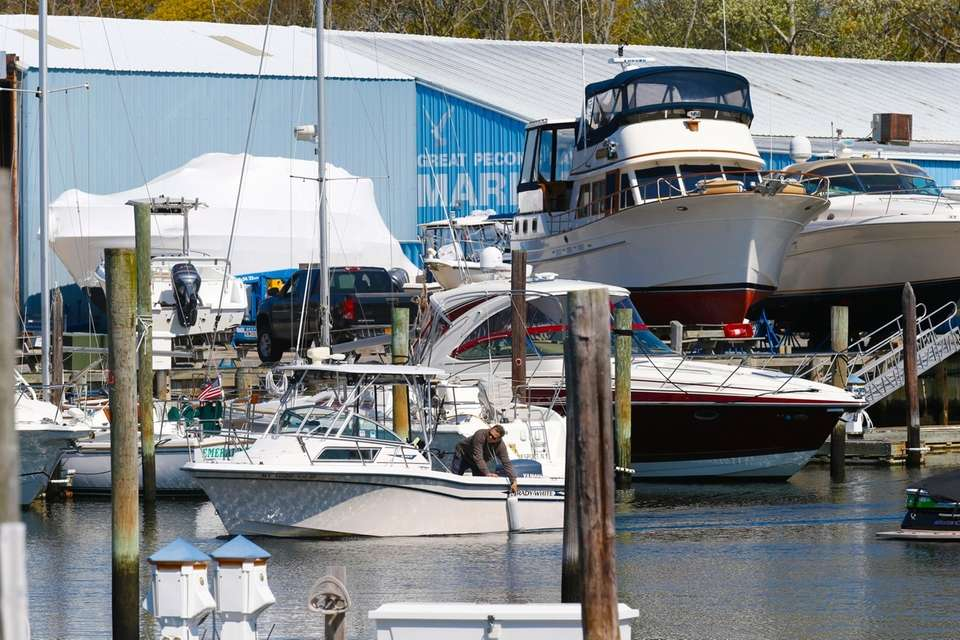 The Great Peconic Bay Marina in South Jamesport