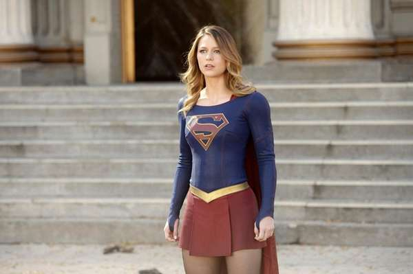 Above, Melissa Benoist appears in a scene from