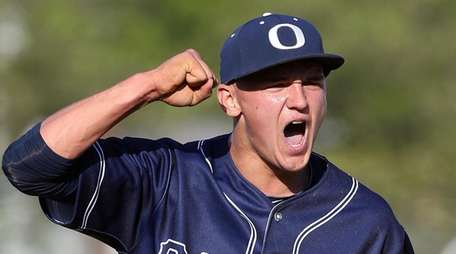 Oceanside's Kyle Martin celebrates the final out during