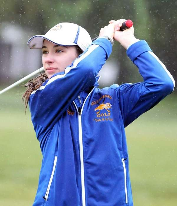 Ashley Harding from Kellenberg drives at the CHSAA