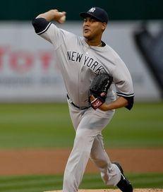 Ivan Nova of the New York Yankees pitches