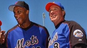 Former Mets, from left, Mookie Wilson, Tim Teufel,