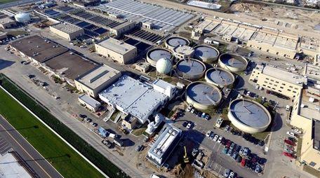 The Bay Park sewage treatment plant on Jan.