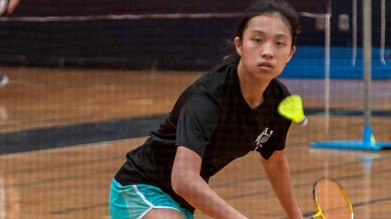 Half Hollow Hills East Badminton singles player Connie