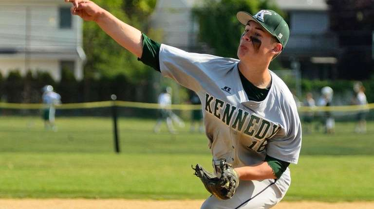 Bellmore JFK's Jason Coules on the mound during