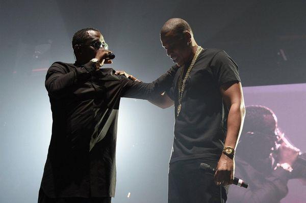 Hip-hop artist Sean Combs, left, and rapper Jay