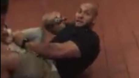 A bystander's video posted online shows an NYPD