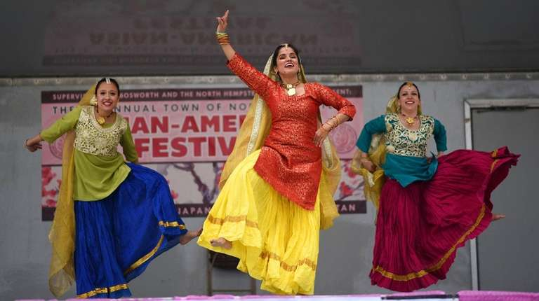 Megha Kalia, center, of the Manhattan-based NYC Bhangra