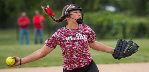 Mt. Sinai pitcher Kelsey Carr during the Suffolk