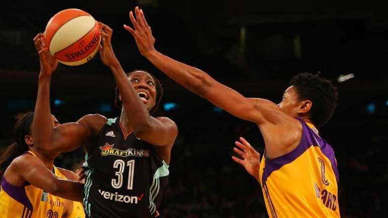 Nneka Ogwumike #30 of the Los Angeles Sparks
