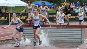 Kellenberg's Nora Bennett leads the runners at the