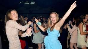 Students dance at the East Hampton High School