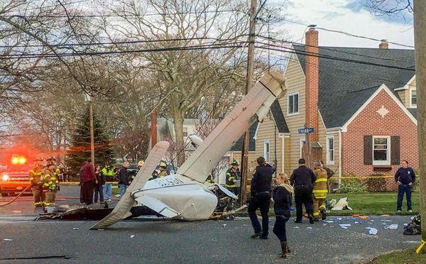 A small single-engine airplane crashed Sunday, April 10,