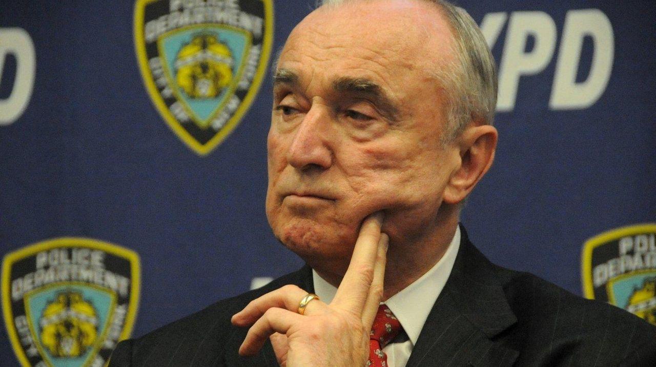 NYPD Commissioner William Bratton, shown on April 7,