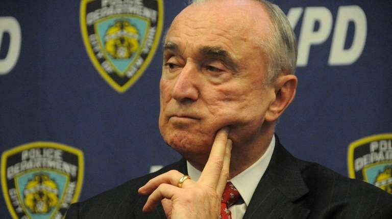 NYPD Commissioner William Bratton, shown on April 7,